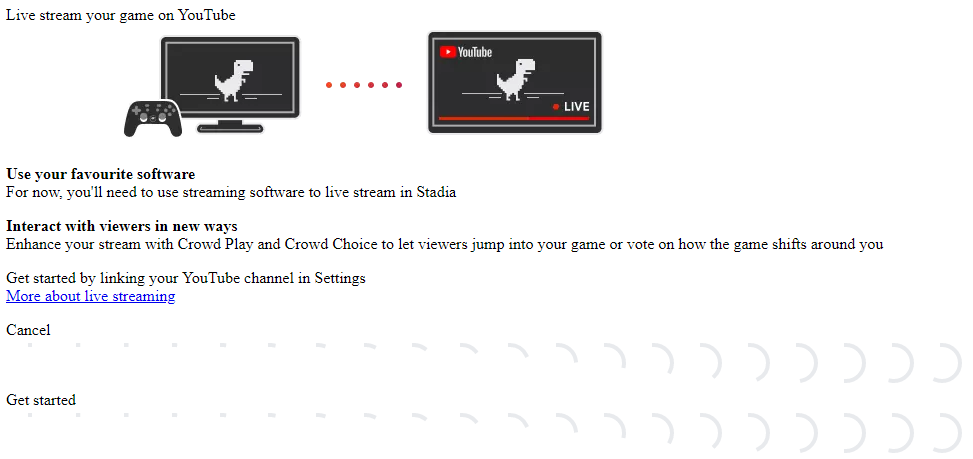 YouTube Streaming in The Stadia Scripts Daily Google Stadia News